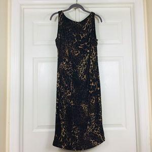 Ralph Lauren leopard animal print sleeveless dress